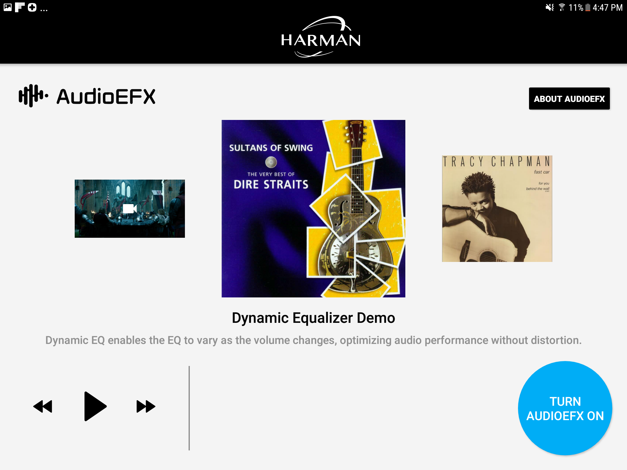 Harman app screenshot