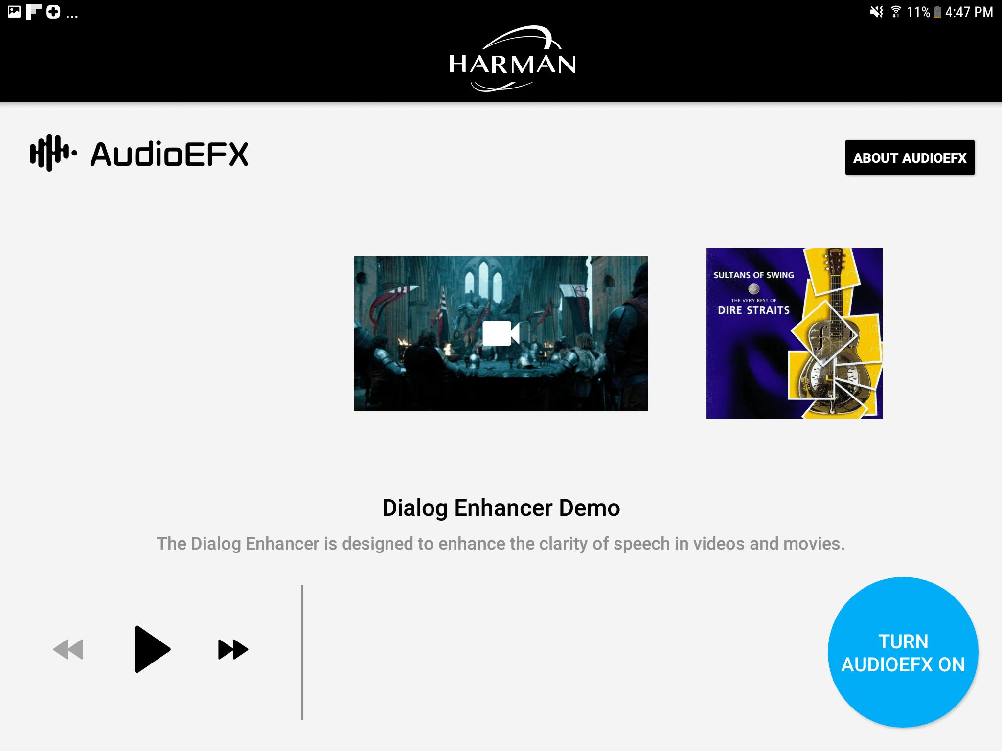 Harman app screenshot