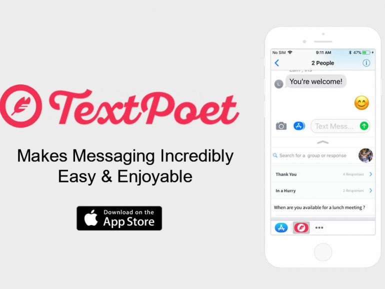 TextPoet is a New iPhone App that Makes Messaging Incredibly Easy & Enjoyable