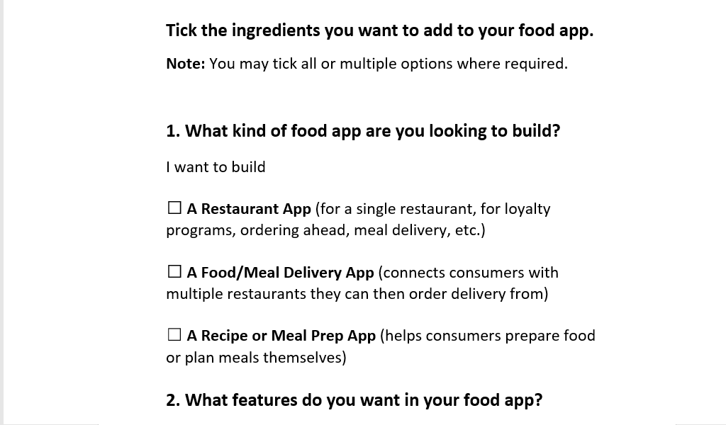 The right combo of ingredients is what makes a perfect food app.