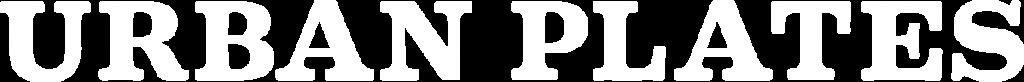Urban Plates logo - white